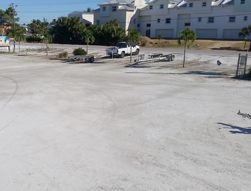 truck and trailer parking at boat ramp